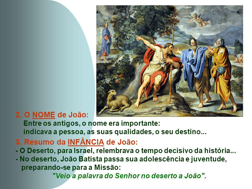 3. Resumo da INFÂNCIA de João: