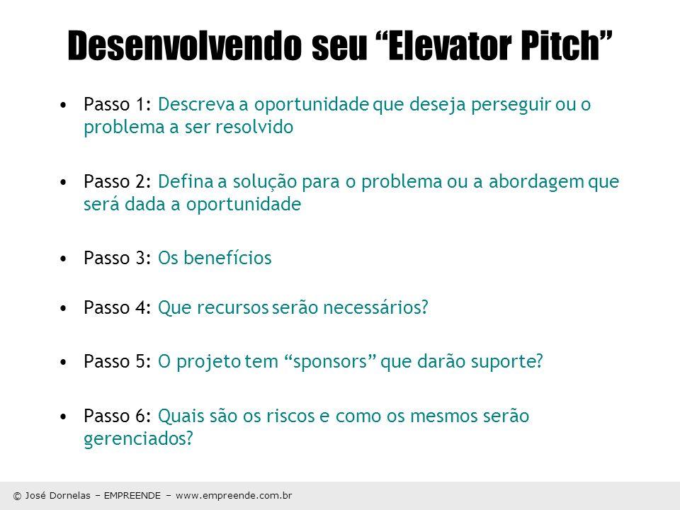 Desenvolvendo seu Elevator Pitch