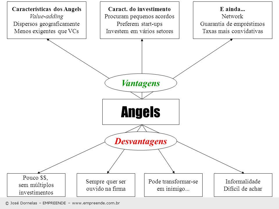 Características dos Angels Caract. do investimento