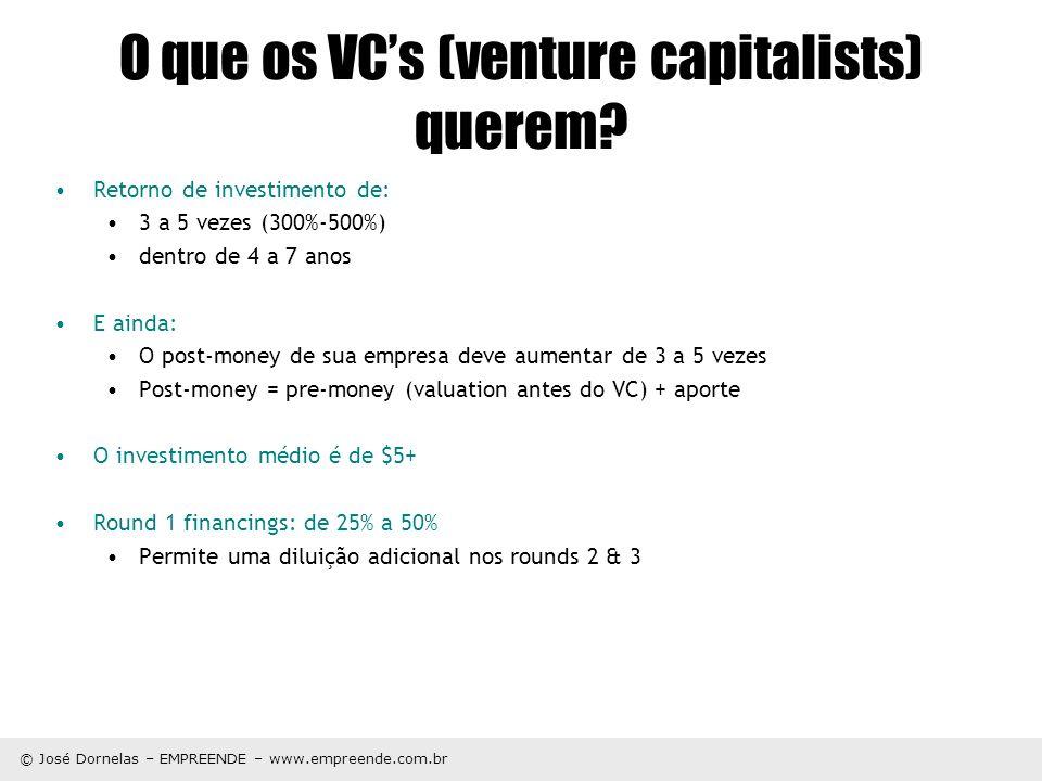 O que os VC's (venture capitalists) querem