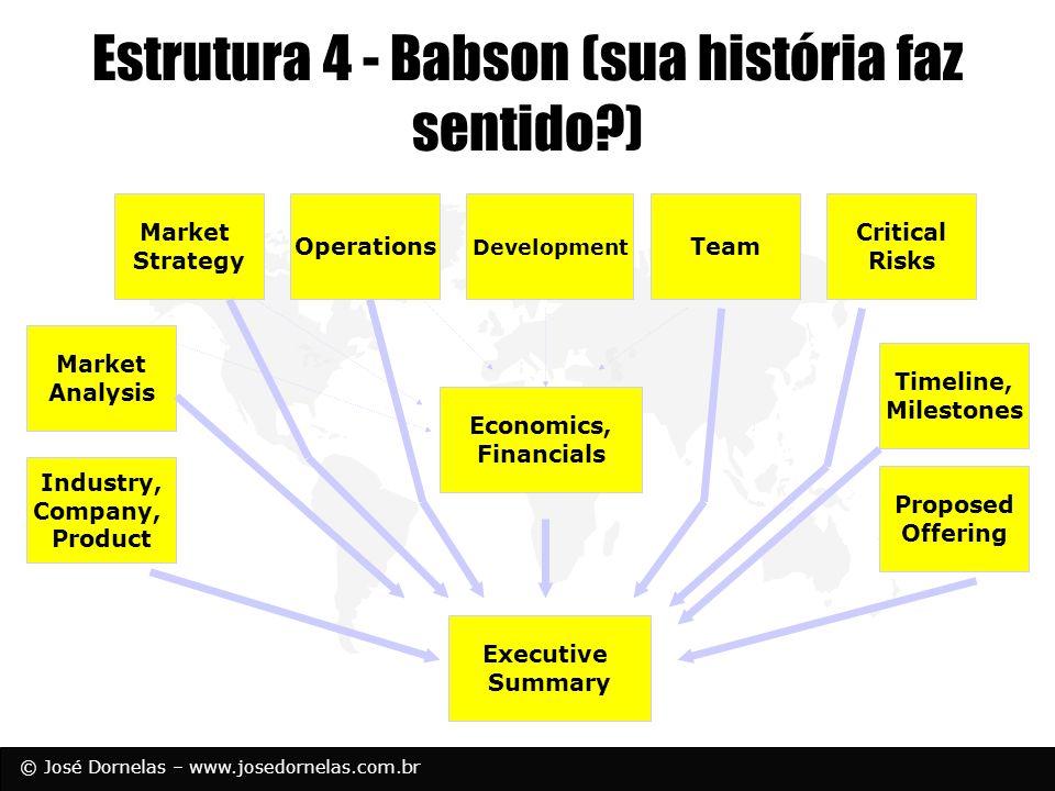 Estrutura 4 - Babson (sua história faz sentido )