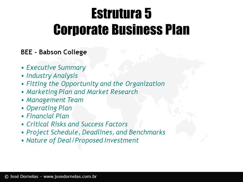 Estrutura 5 Corporate Business Plan