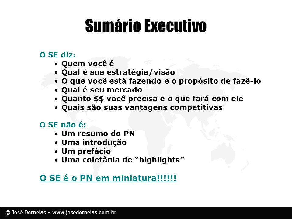 Sumário Executivo O SE é o PN em miniatura!!!!!! O SE diz: Quem você é