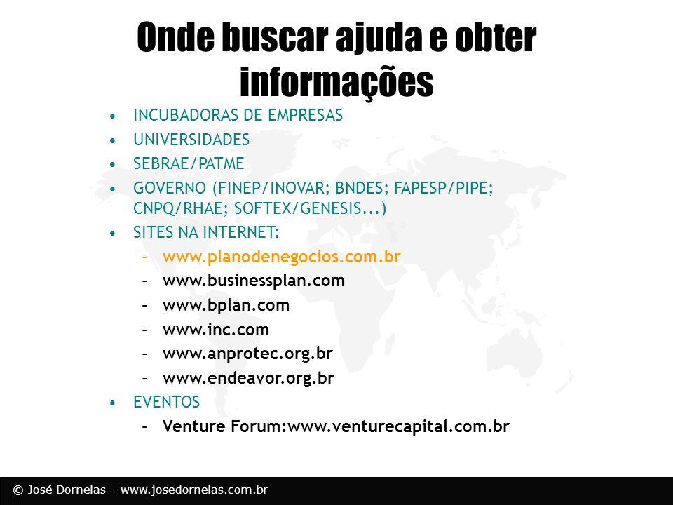 Onde buscar ajuda e obter informações