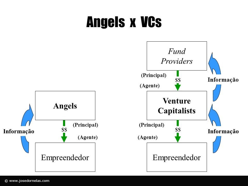 Angels x VCs Fund Providers Angels Venture Capitalists Empreendedor