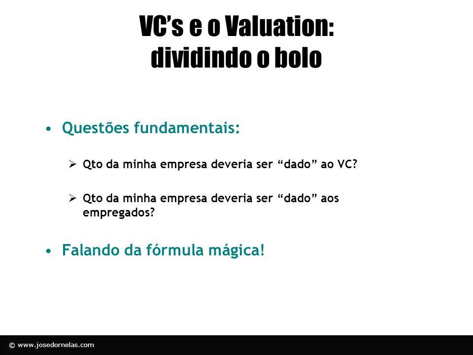 VC's e o Valuation: dividindo o bolo