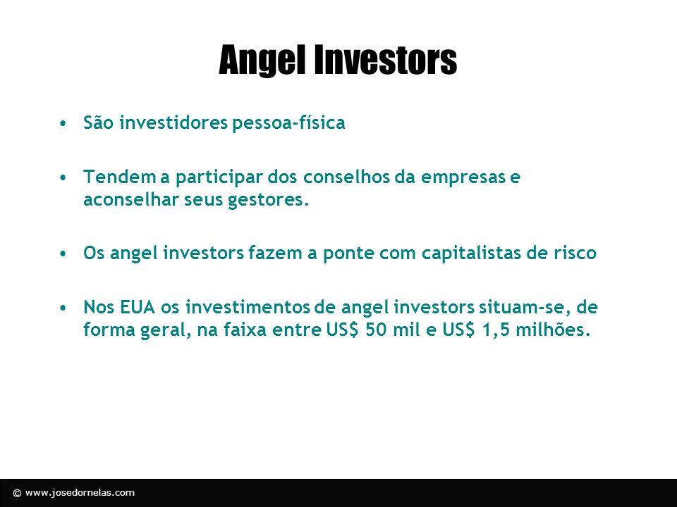 Angel Investors São investidores pessoa-física