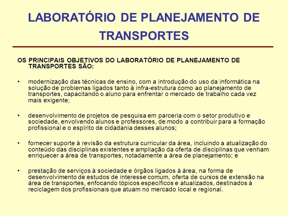 LABORATÓRIO DE PLANEJAMENTO DE TRANSPORTES