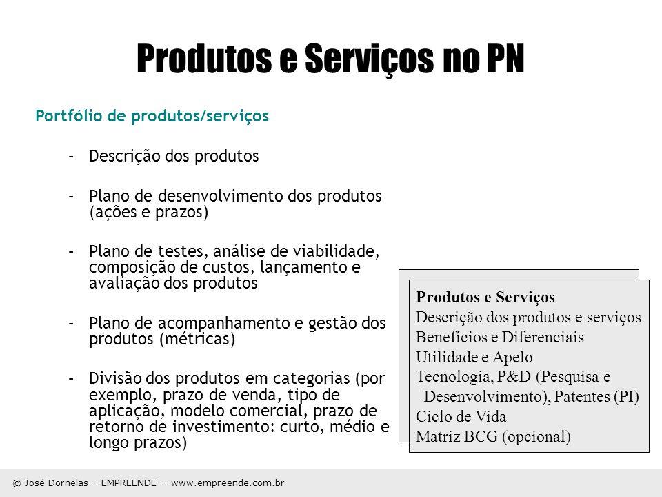 Produtos e Serviços no PN