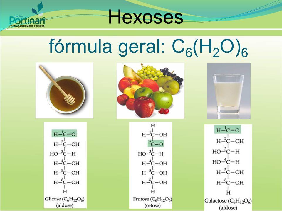 Hexoses fórmula geral: C6(H2O)6