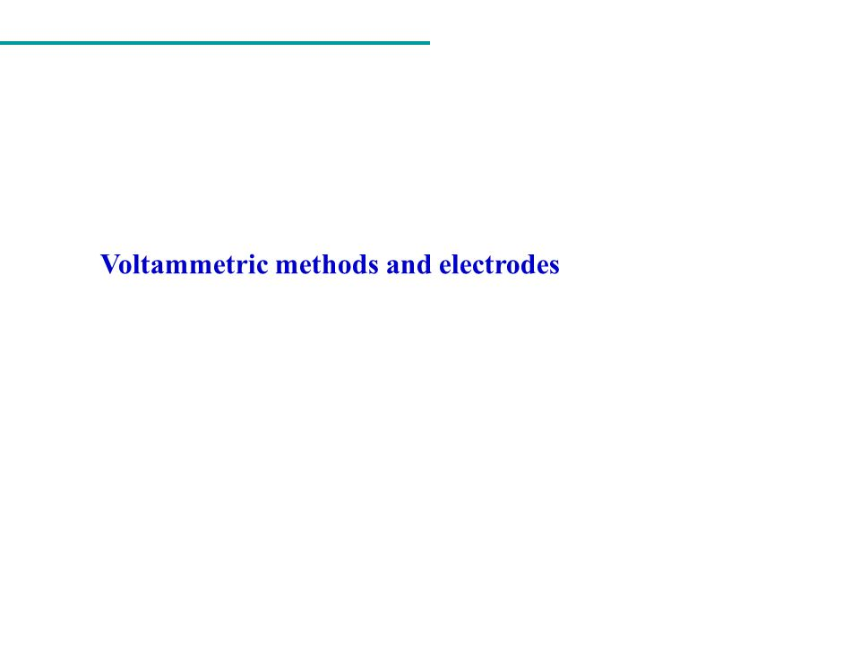 Voltammetric methods and electrodes