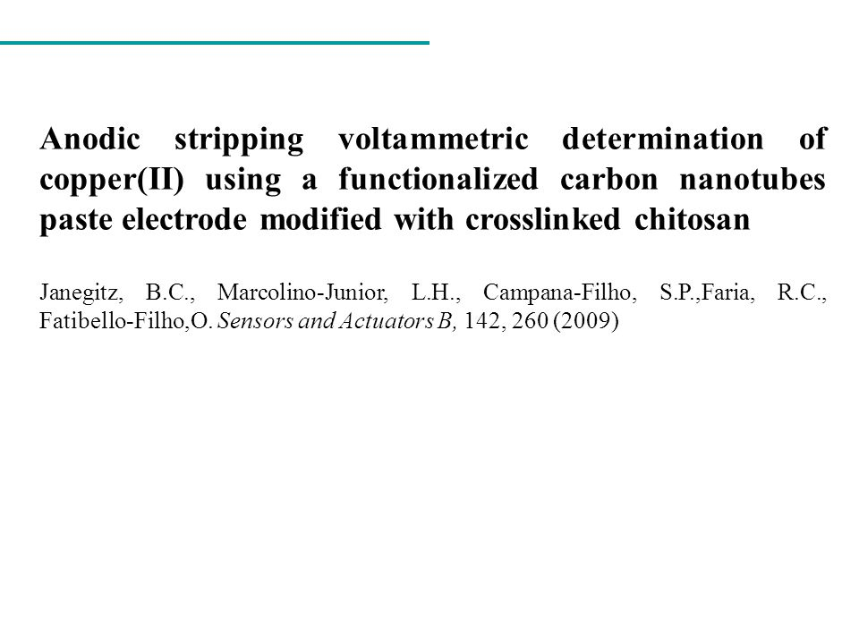 Anodic stripping voltammetric determination of copper(II) using a functionalized carbon nanotubes paste electrode modified with crosslinked chitosan