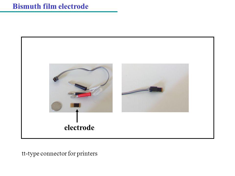 Bismuth film electrode
