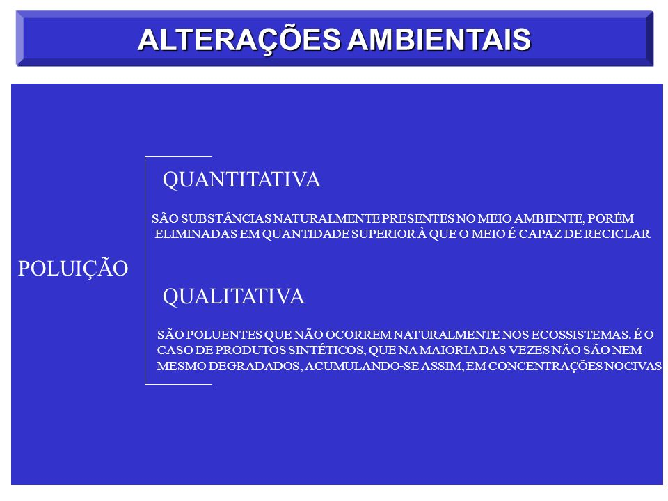 ALTERAÇÕES AMBIENTAIS