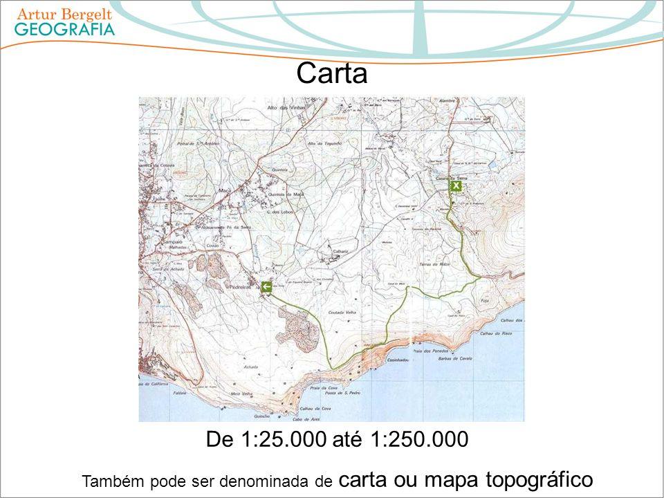 Também pode ser denominada de carta ou mapa topográfico
