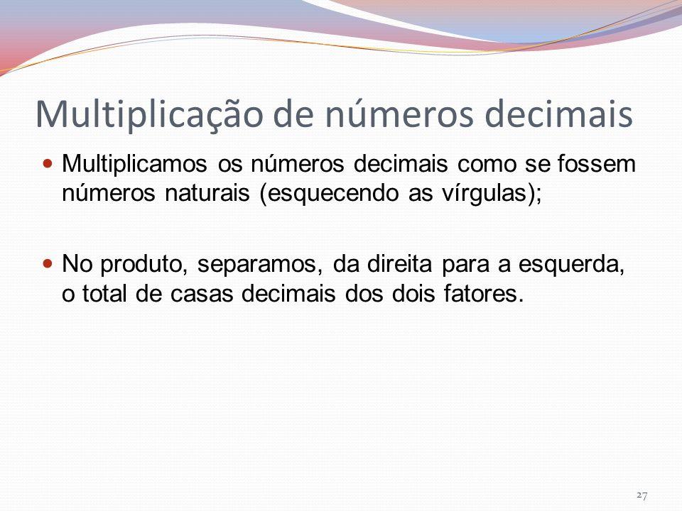 Multiplicação de números decimais