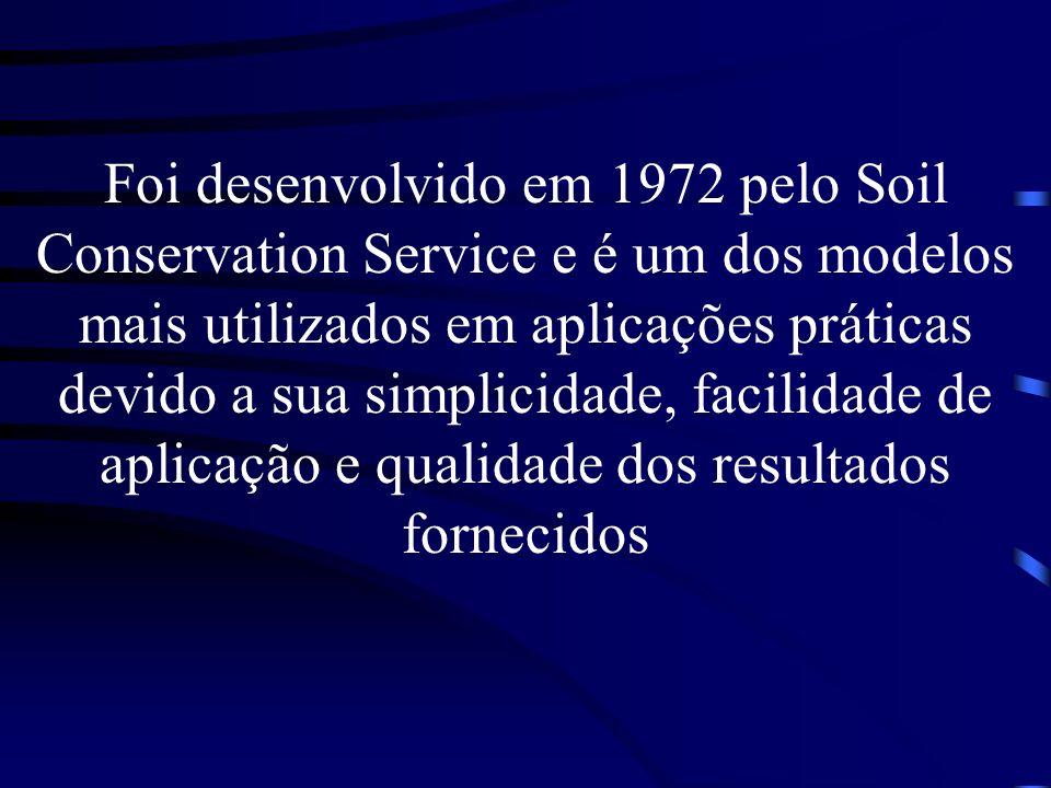 Foi desenvolvido em 1972 pelo Soil Conservation Service e é um dos modelos mais utilizados em aplicações práticas devido a sua simplicidade, facilidade de aplicação e qualidade dos resultados fornecidos