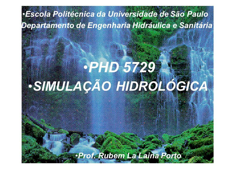 PHD 5729 SIMULAÇÃO HIDROLÓGICA