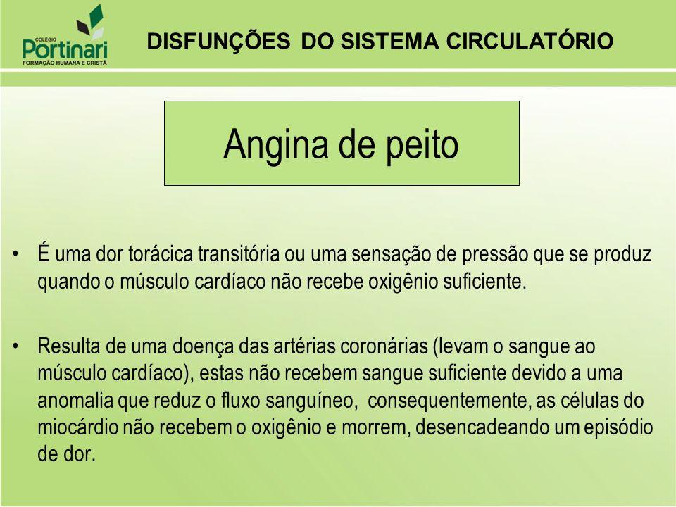 Angina de peito DISFUNÇÕES DO SISTEMA CIRCULATÓRIO