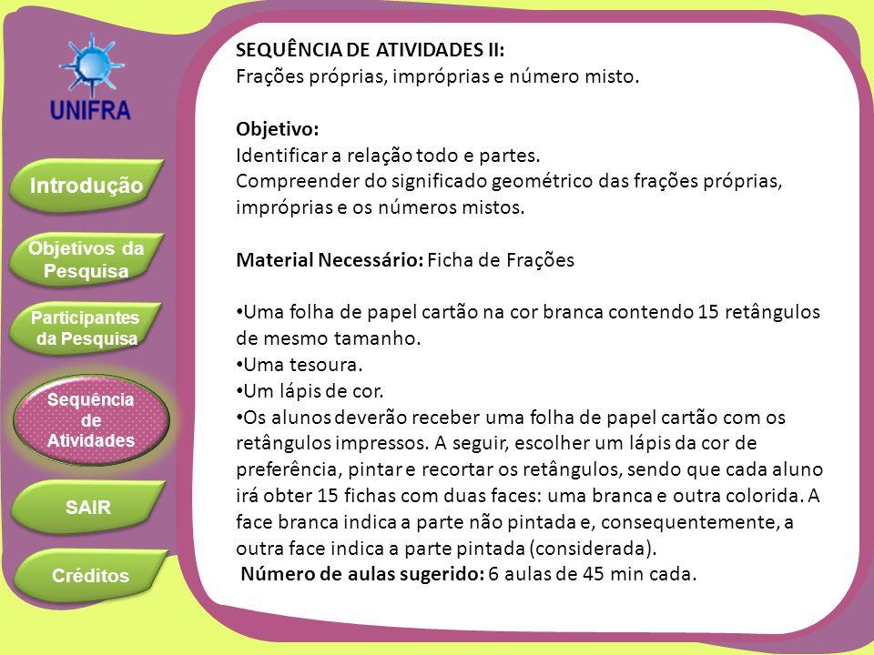 SEQUÊNCIA DE ATIVIDADES II: