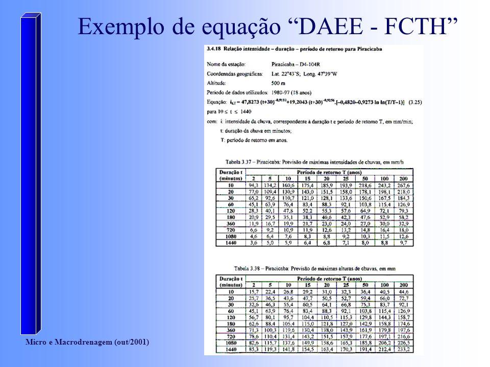 Exemplo de equação DAEE - FCTH