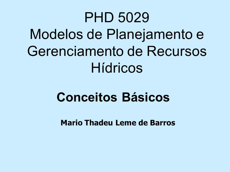 PHD 5029 Modelos de Planejamento e Gerenciamento de Recursos Hídricos