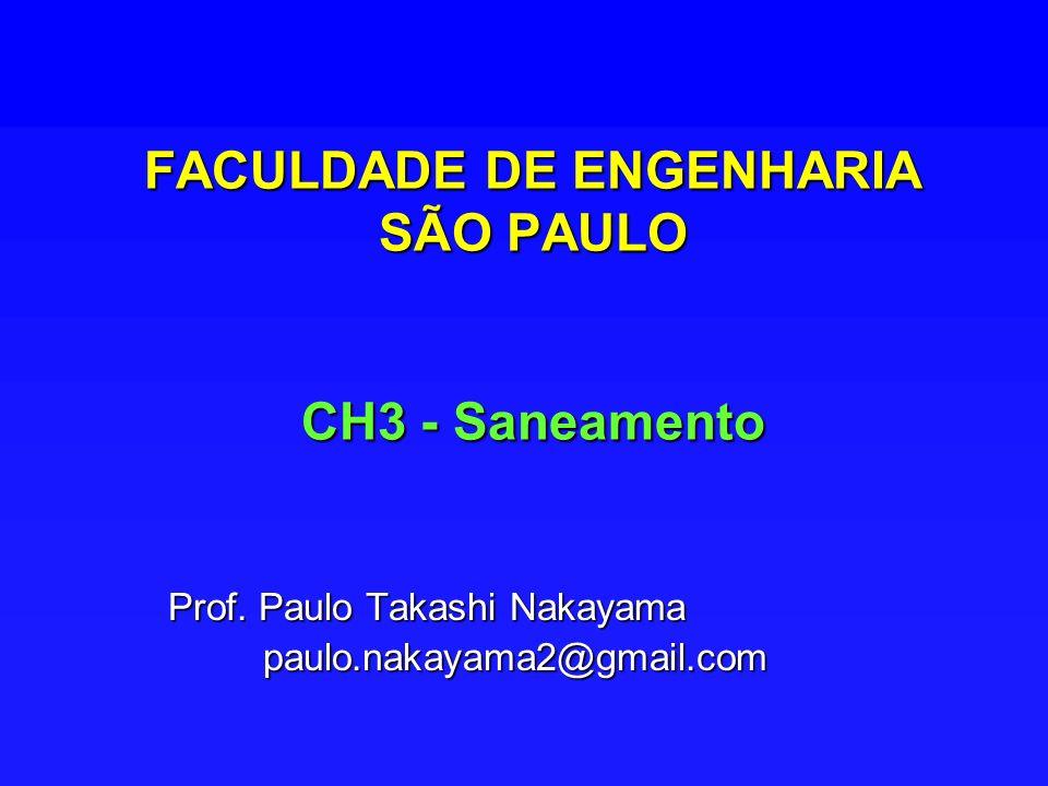 FACULDADE DE ENGENHARIA SÃO PAULO CH3 - Saneamento