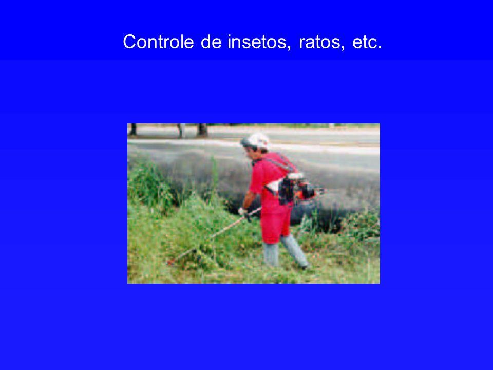 Controle de insetos, ratos, etc.
