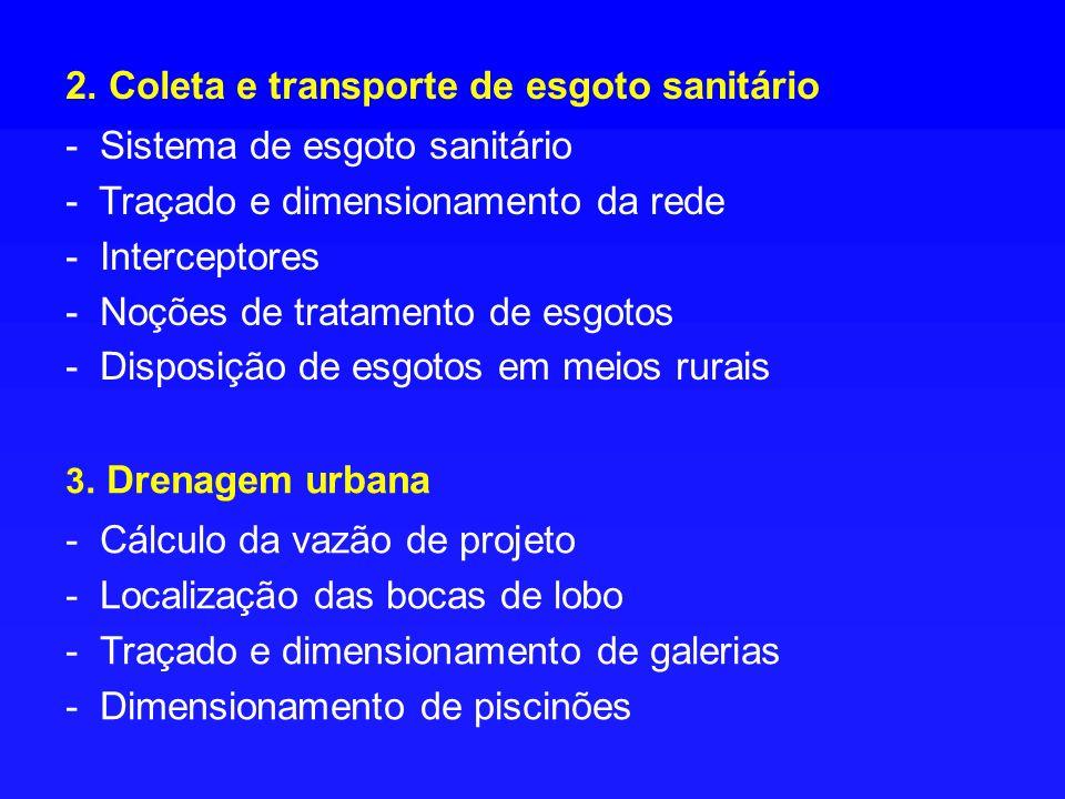 2. Coleta e transporte de esgoto sanitário