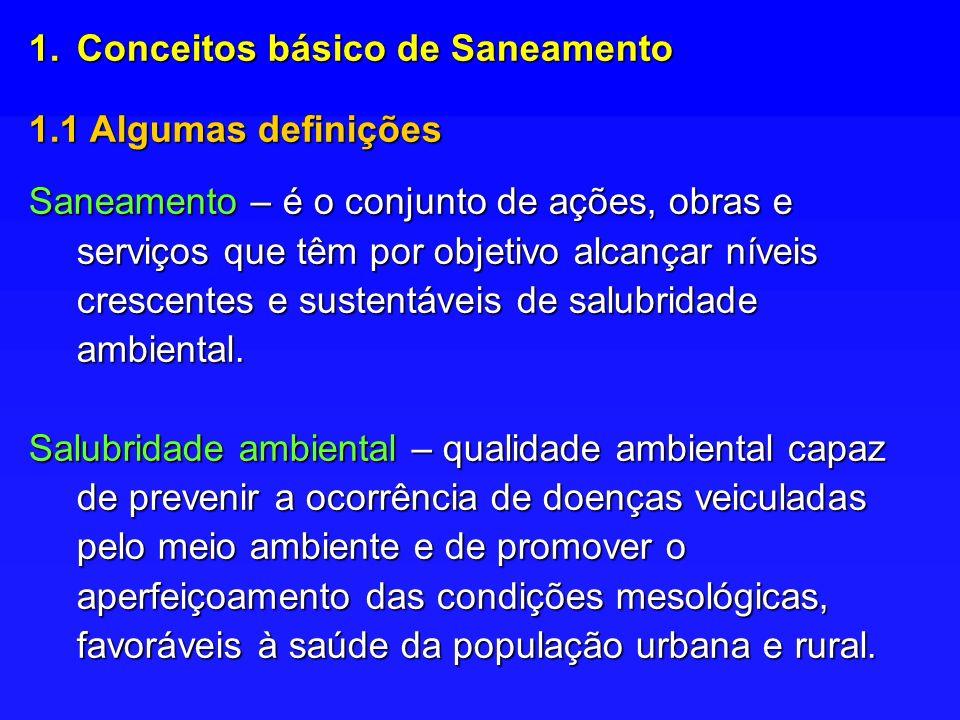 Conceitos básico de Saneamento