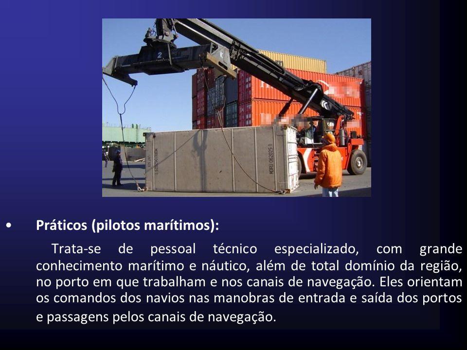 Práticos (pilotos marítimos):