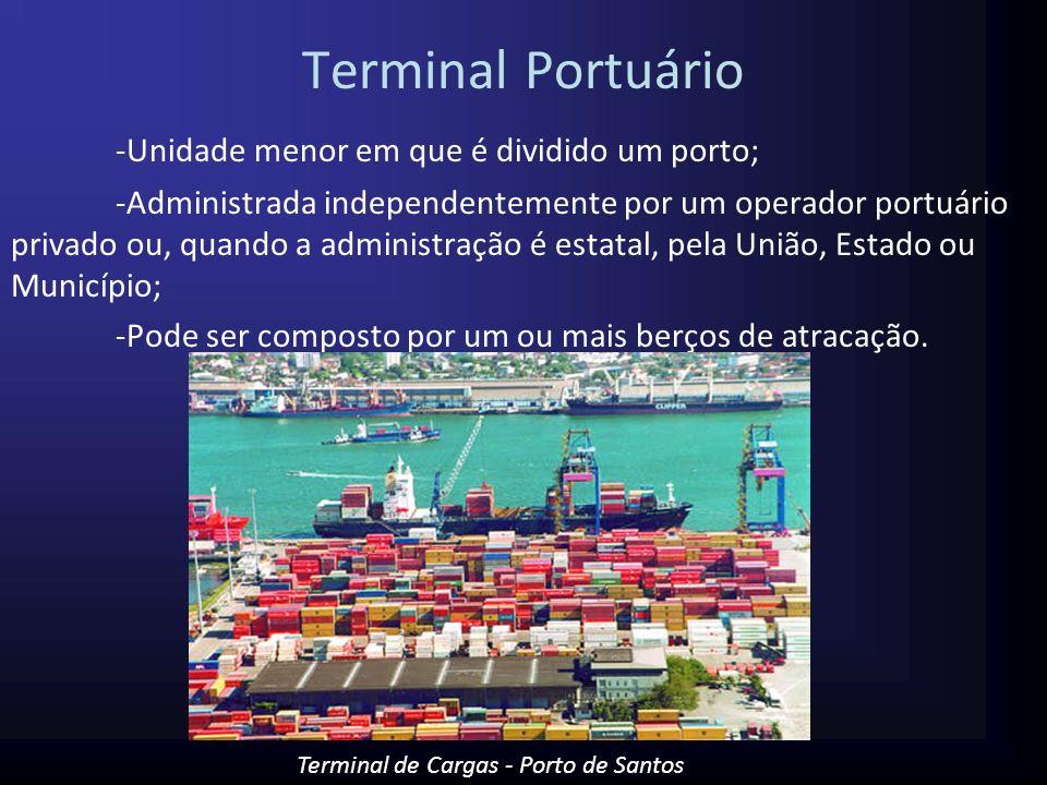 Terminal Portuário -Unidade menor em que é dividido um porto;
