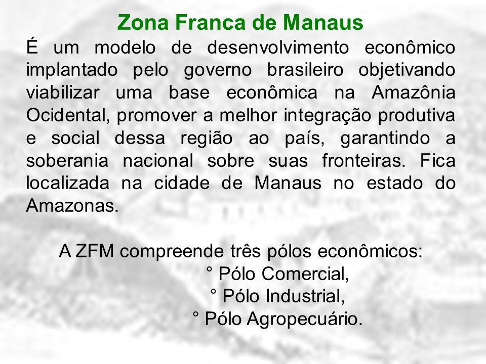 A ZFM compreende três pólos econômicos: