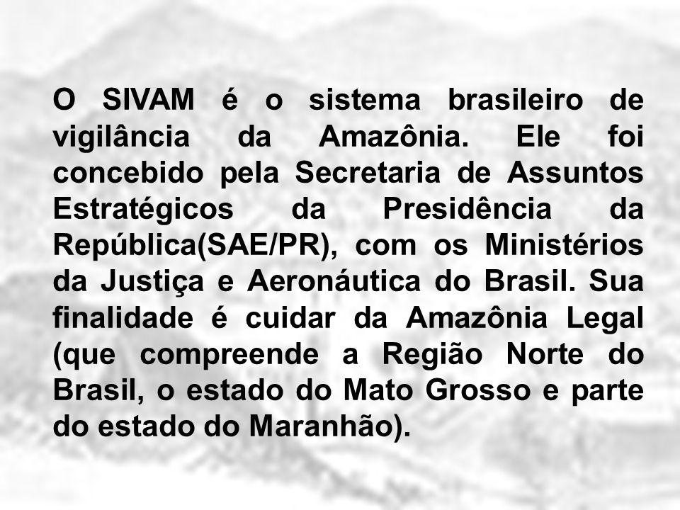O SIVAM é o sistema brasileiro de vigilância da Amazônia