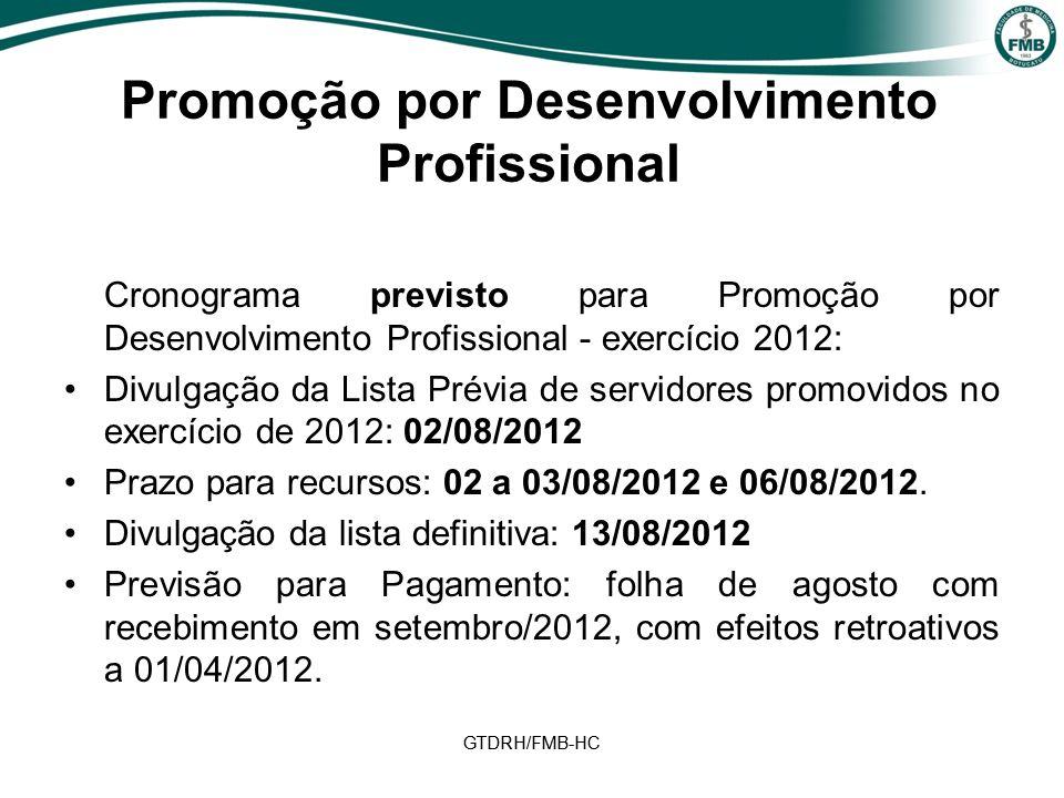 Promoção por Desenvolvimento Profissional