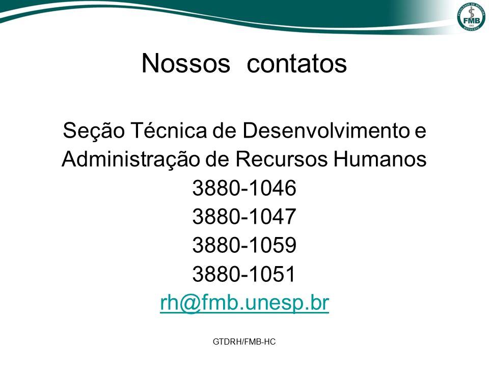 Nossos contatos Seção Técnica de Desenvolvimento e
