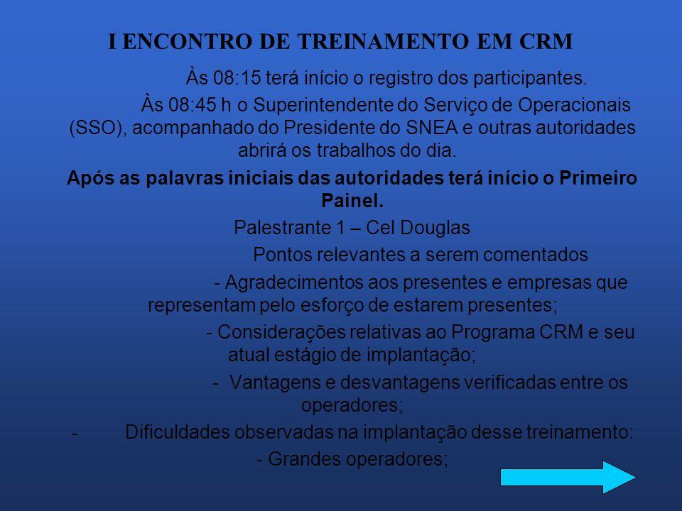 I ENCONTRO DE TREINAMENTO EM CRM