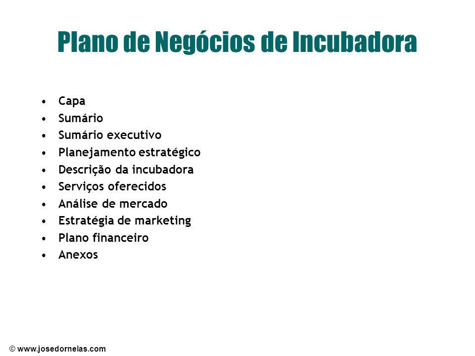 Plano de Negócios de Incubadora