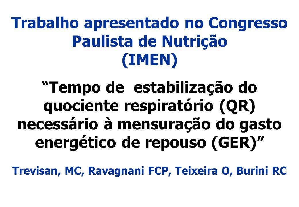 Trabalho apresentado no Congresso Paulista de Nutrição (IMEN)