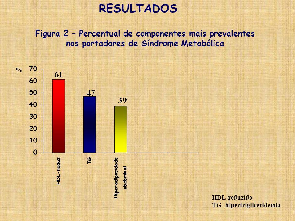 RESULTADOS Figura 2 – Percentual de componentes mais prevalentes
