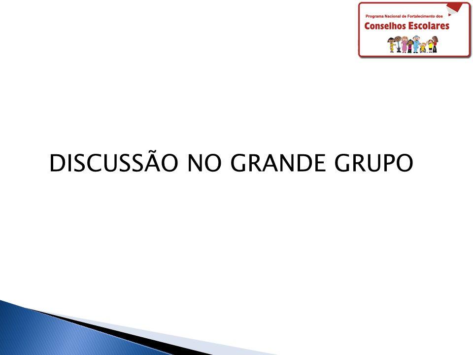 DISCUSSÃO NO GRANDE GRUPO