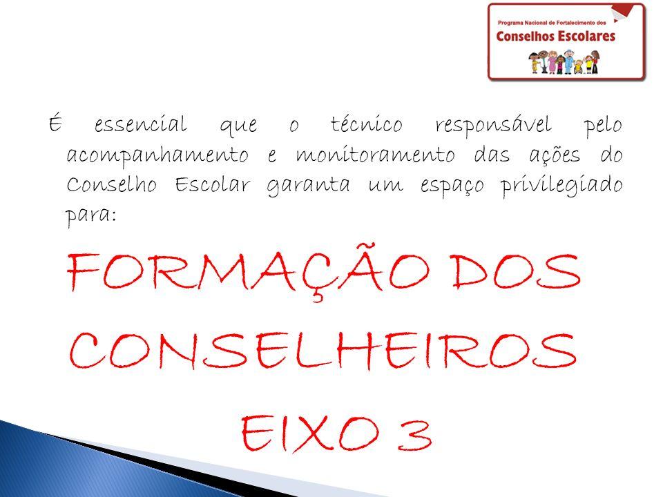 FORMAÇÃO DOS CONSELHEIROS EIXO 3