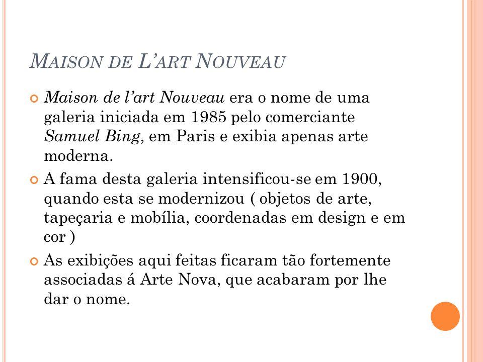 A arte nova ppt carregar - Maison de l art nouveau ...