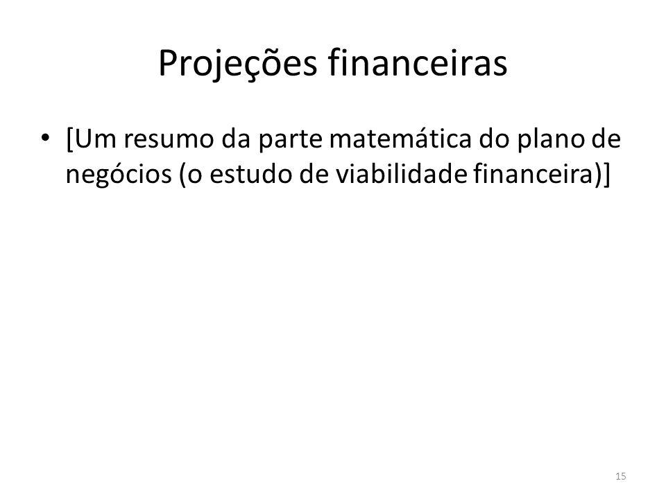 Projeções financeiras