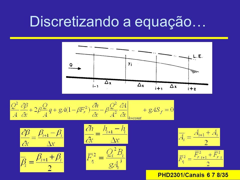 Discretizando a equação…