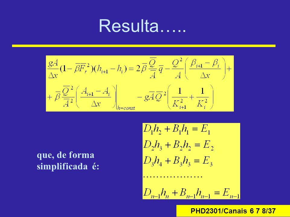 Resulta….. que, de forma simplificada é: