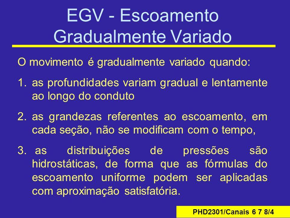 EGV - Escoamento Gradualmente Variado