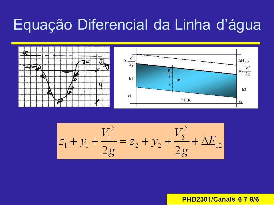 Equação Diferencial da Linha d'água