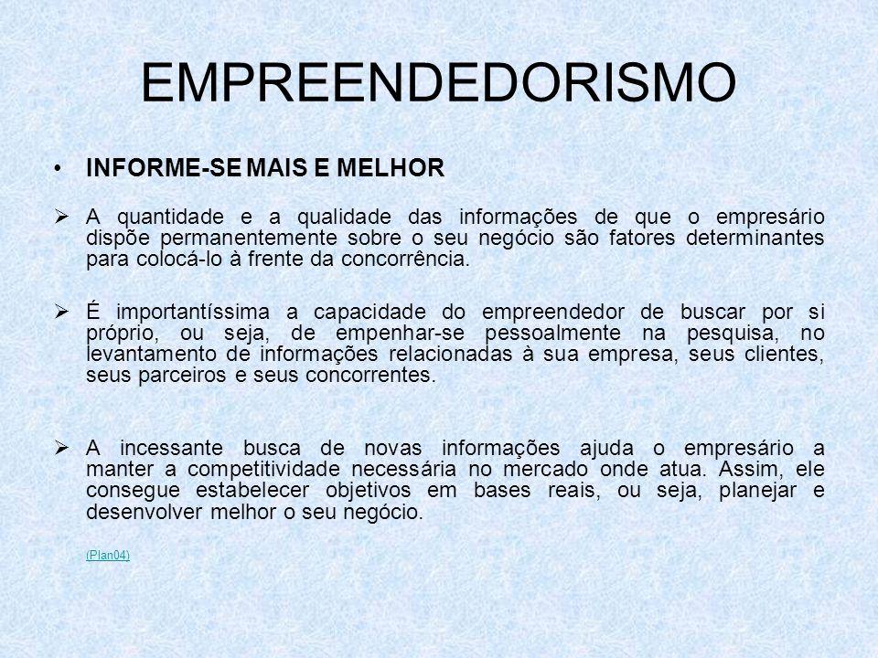 EMPREENDEDORISMO INFORME-SE MAIS E MELHOR