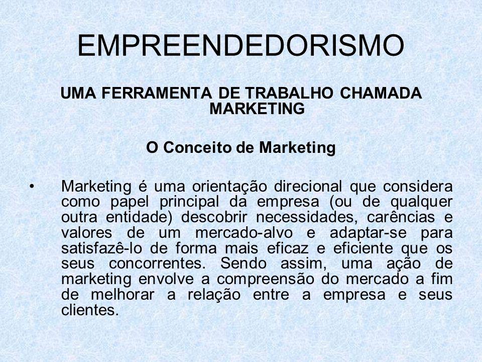 UMA FERRAMENTA DE TRABALHO CHAMADA MARKETING O Conceito de Marketing
